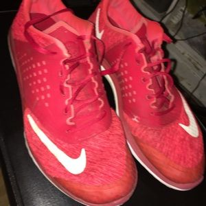 Red Nike FS Lite Running Shoes